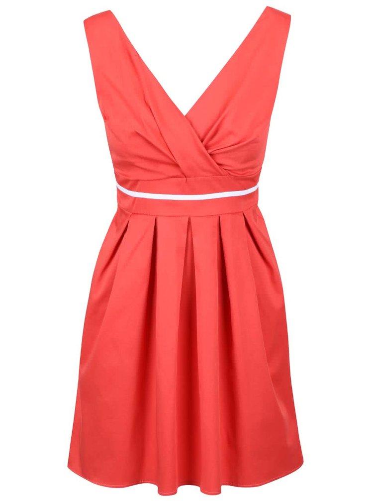 Červené šaty s bílým pruhem Apricot