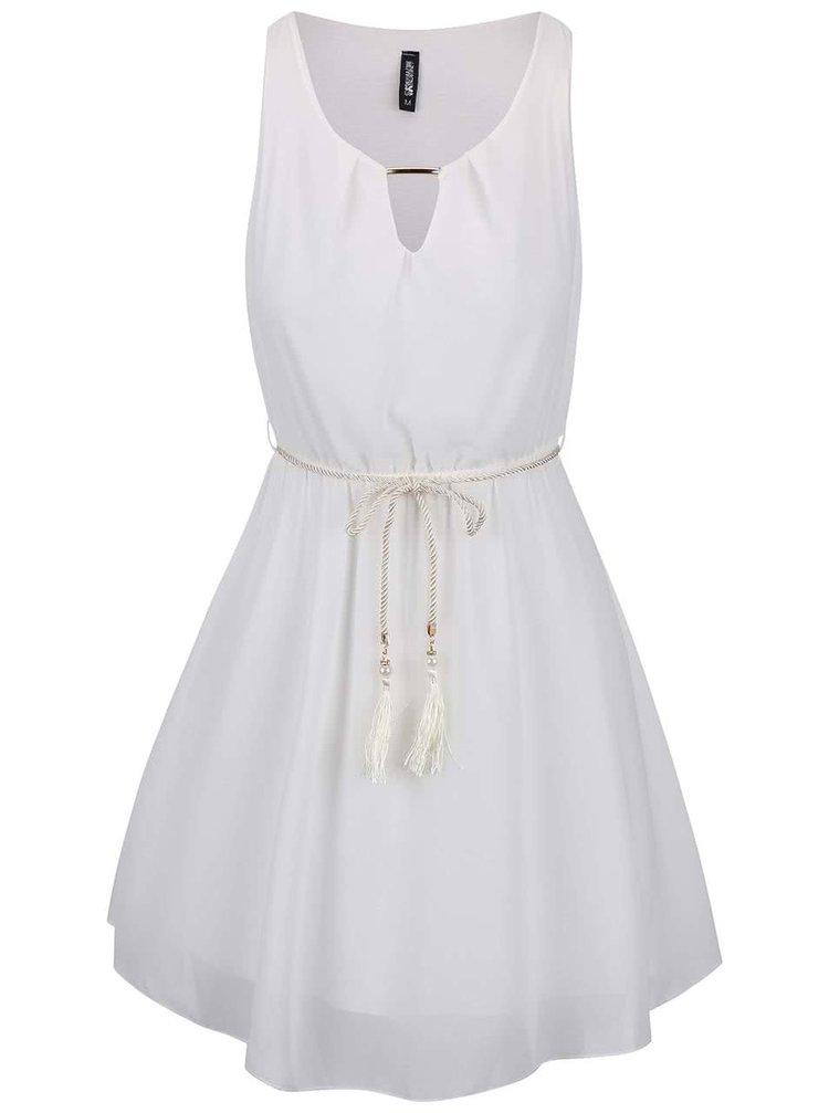 Krémové šaty s páskem Haily´s Georgia