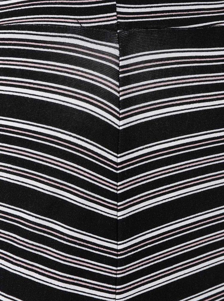 ... Černá pruhovaná delší sukně Dorothy Perkins Curve 257c7cd5bc