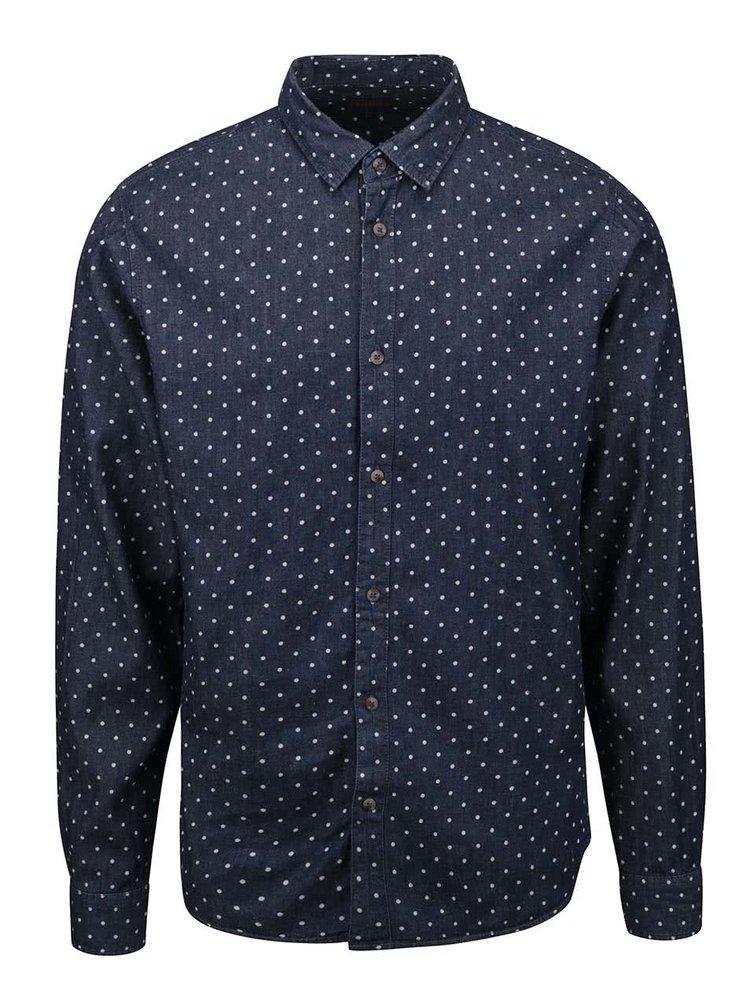 Tmavě modrá košile s puntíky !Solid Betwin