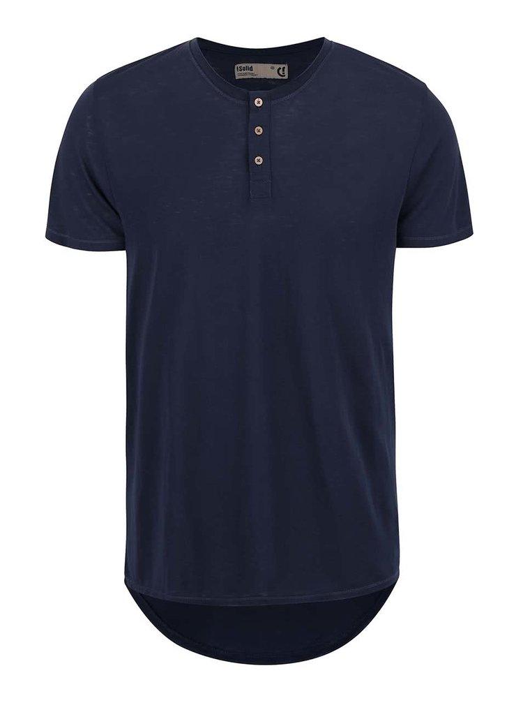 Tmavě modré triko s knoflíčky !Solid Barron