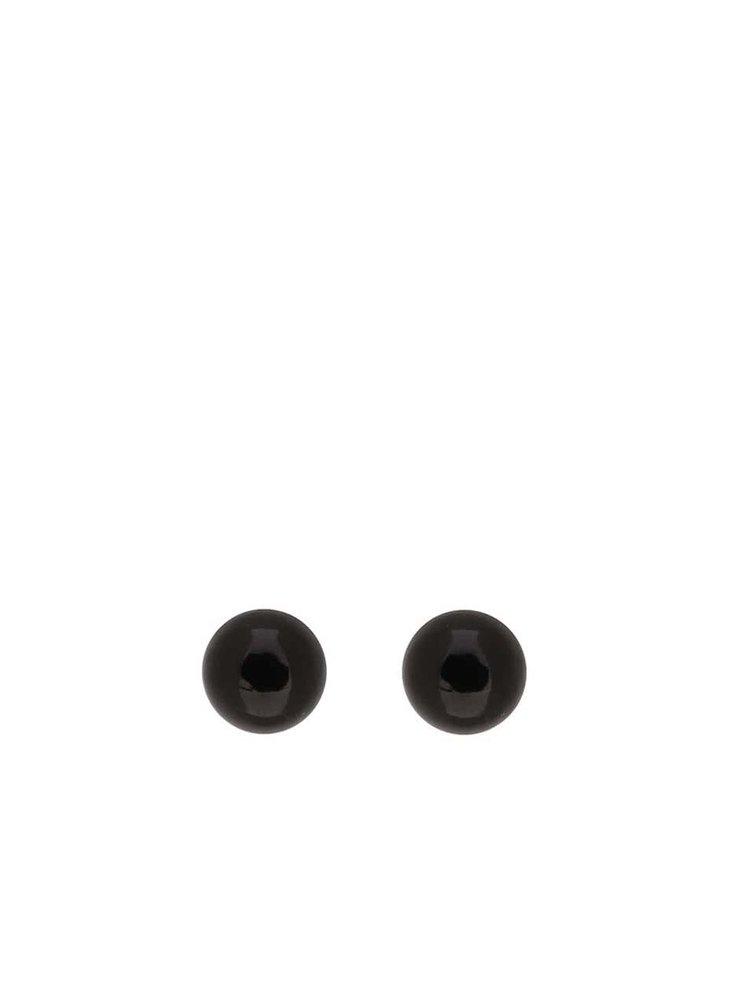 Čierne náušnice Pieces Chogan