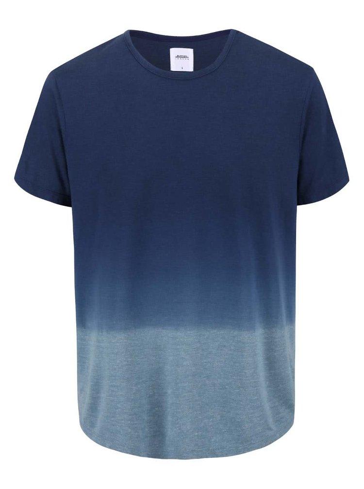 Modré triko s ombre efektem Burton Menswear London