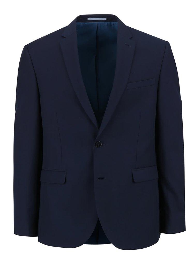 Sacou slim fit Burton Menswear London albastru închis