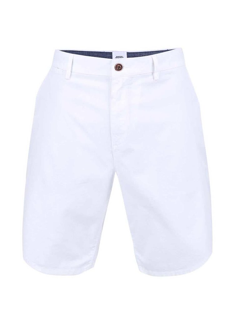 Biele chino kraťasy Burton Menswear London