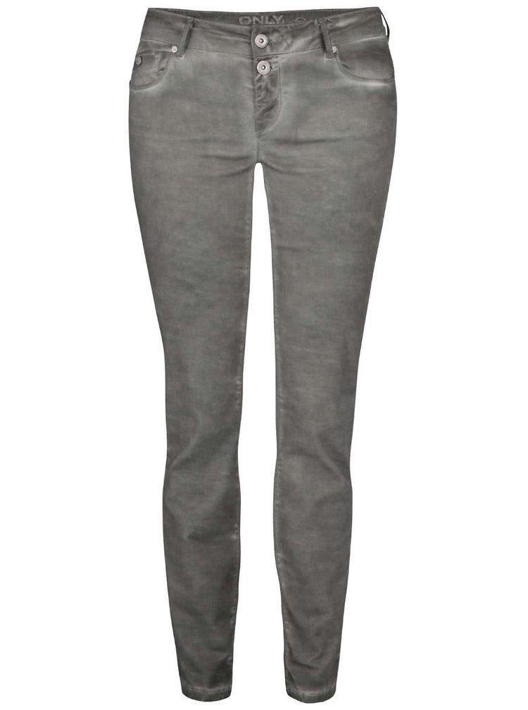 Khaki džíny s opraným efektem ONLY Hazel