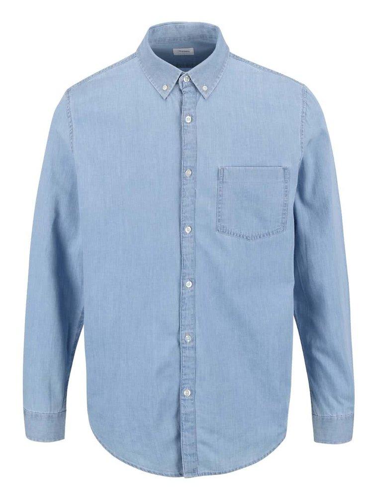 Cămașă tip denim Burton Menswear London albastru deschis