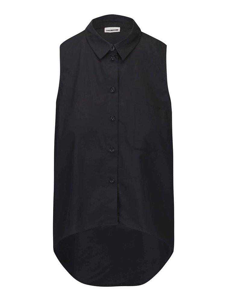 Čierna košeľa bez rukávov Noisy May Cana
