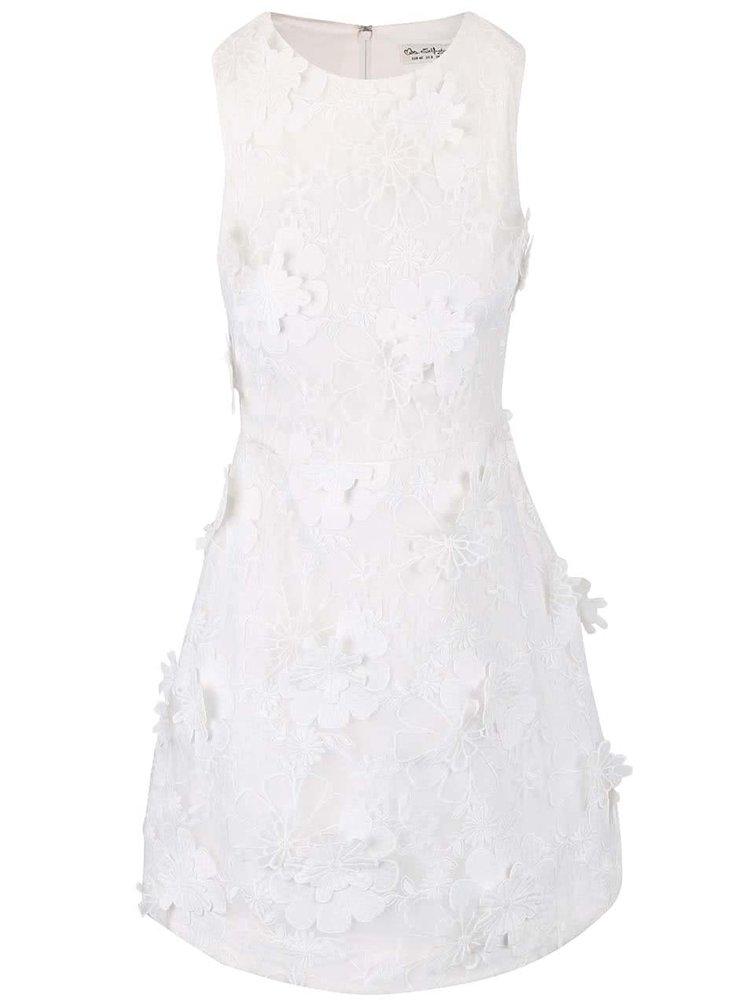 Krémové květované šaty Miss Selfridge