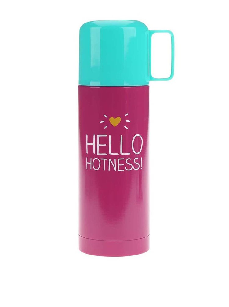 Růžová termoska Happy Jackson Flask Hello Hotness