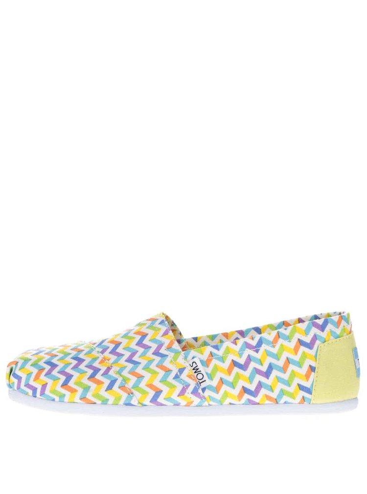 Barevné dámské vzorované loafers Toms