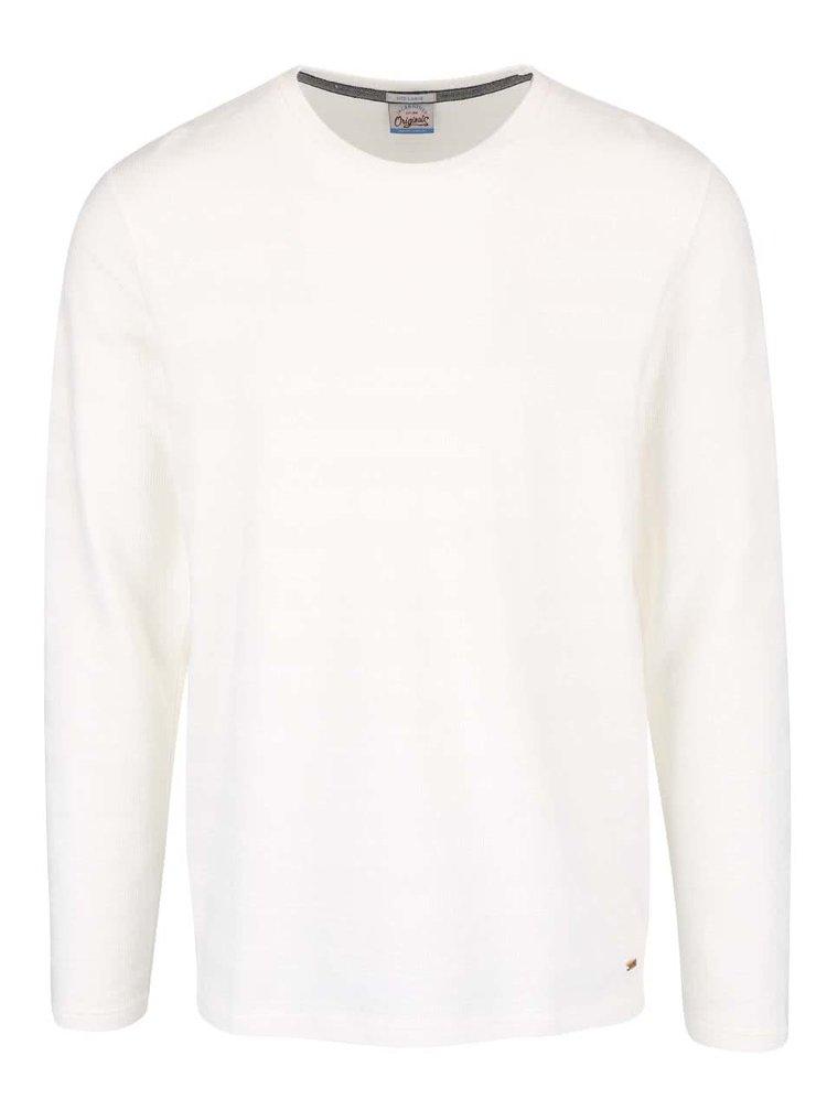 Krémové tričko s dlhým rukávom Jack & Jones Struck