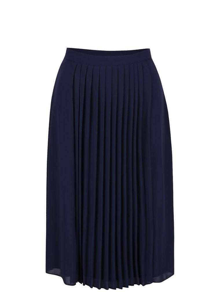 Tmavě modrá skládaná sukně Dorothy Perkins Petite