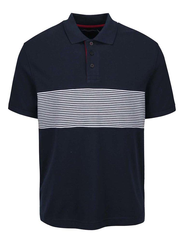 Tmavě modré pánské polo triko s pruhy Nautica