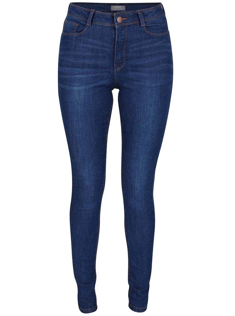 Modré elastické skinny džíny Dorothy Perkins