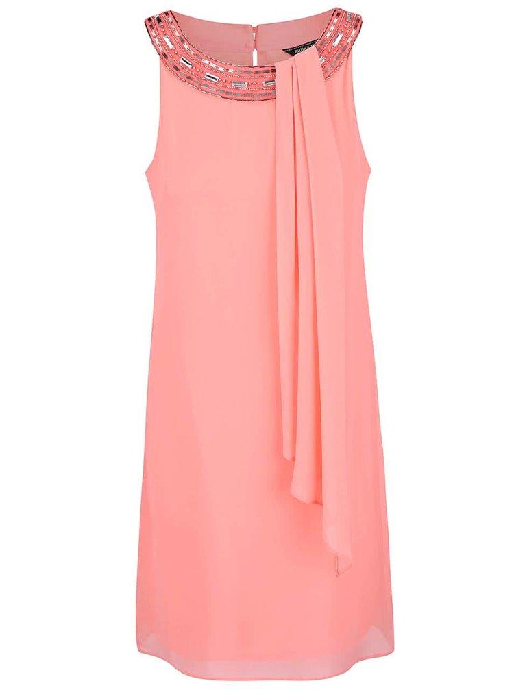 Rochie Dorothy Perkins roz neon cu aplicații