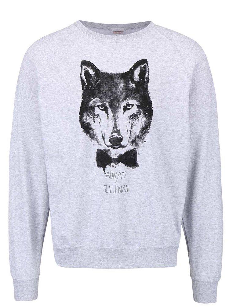 Sivá pánska mikina ZOOT Originál Wolf