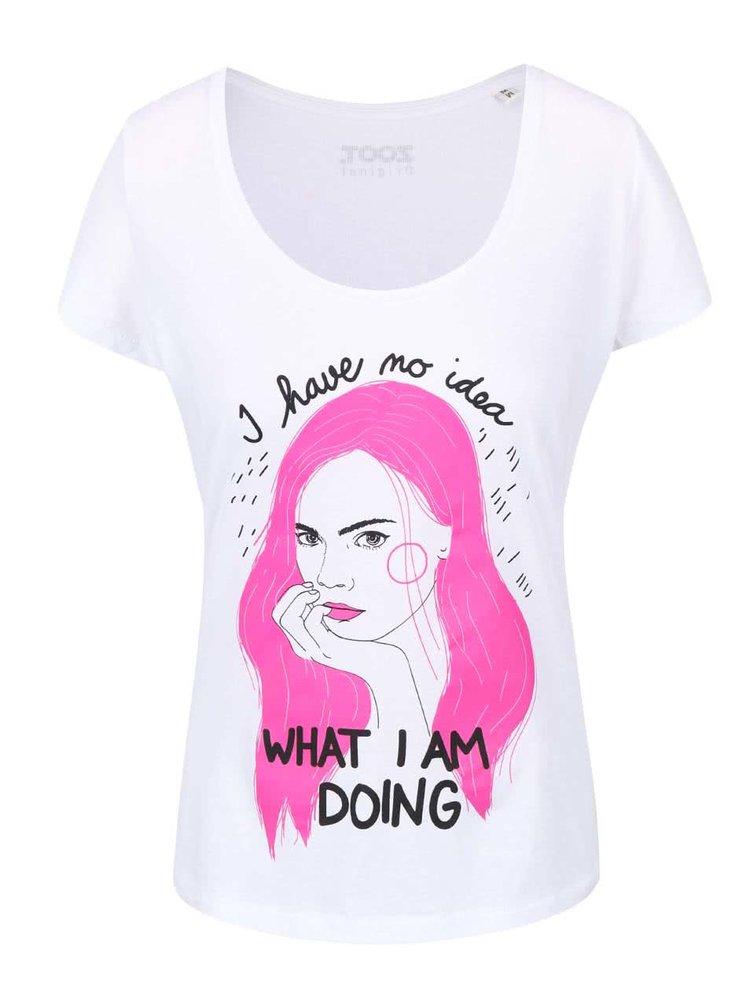 Bílé dámské tričko ZOOT Originál I Have No Idea