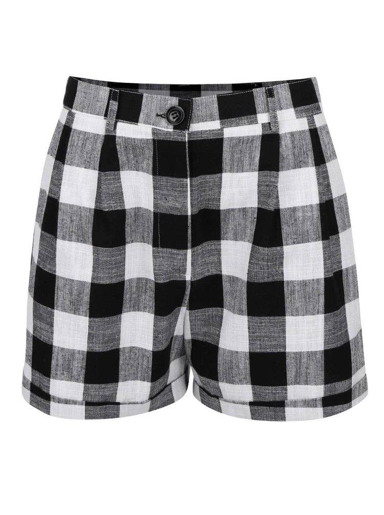 Černo-bílé kostkované šortky Dorothy Perkins