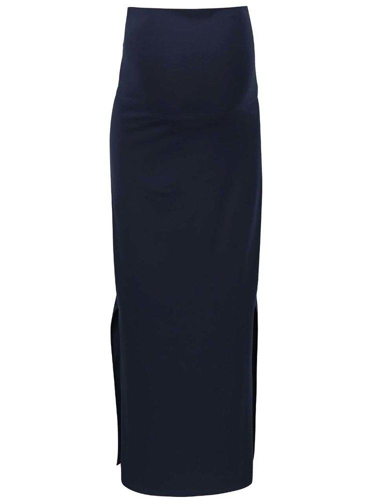 Tmavomodrá tehotenská maxi sukňa Mama.licious Lea