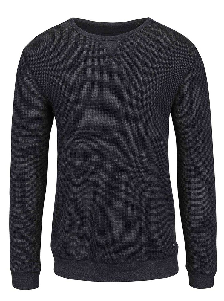 Šedo-černý žíhaný lehký svetr Only&Sons James