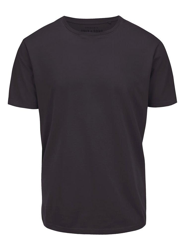 Čierne tričko ONLY & SONS Kanta