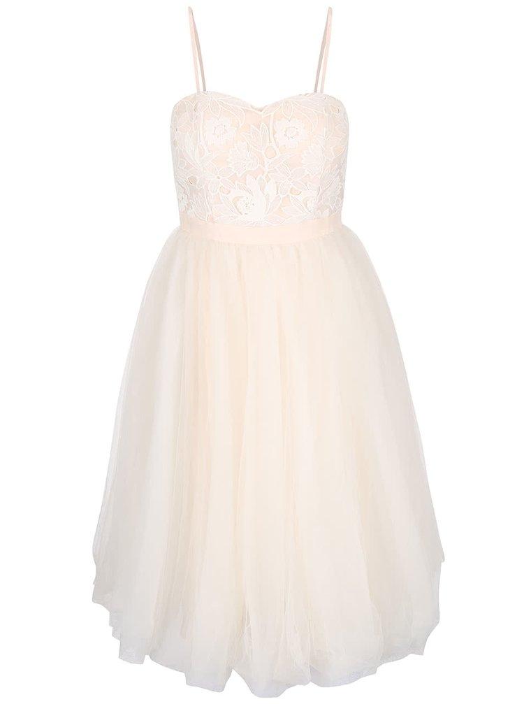 Tělové šaty s odepínatelnými ramínky Chi Chi London Montana