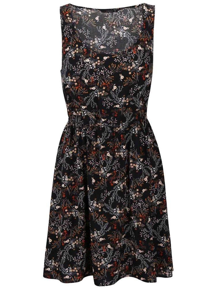 Černé květované šaty ONLY Nova