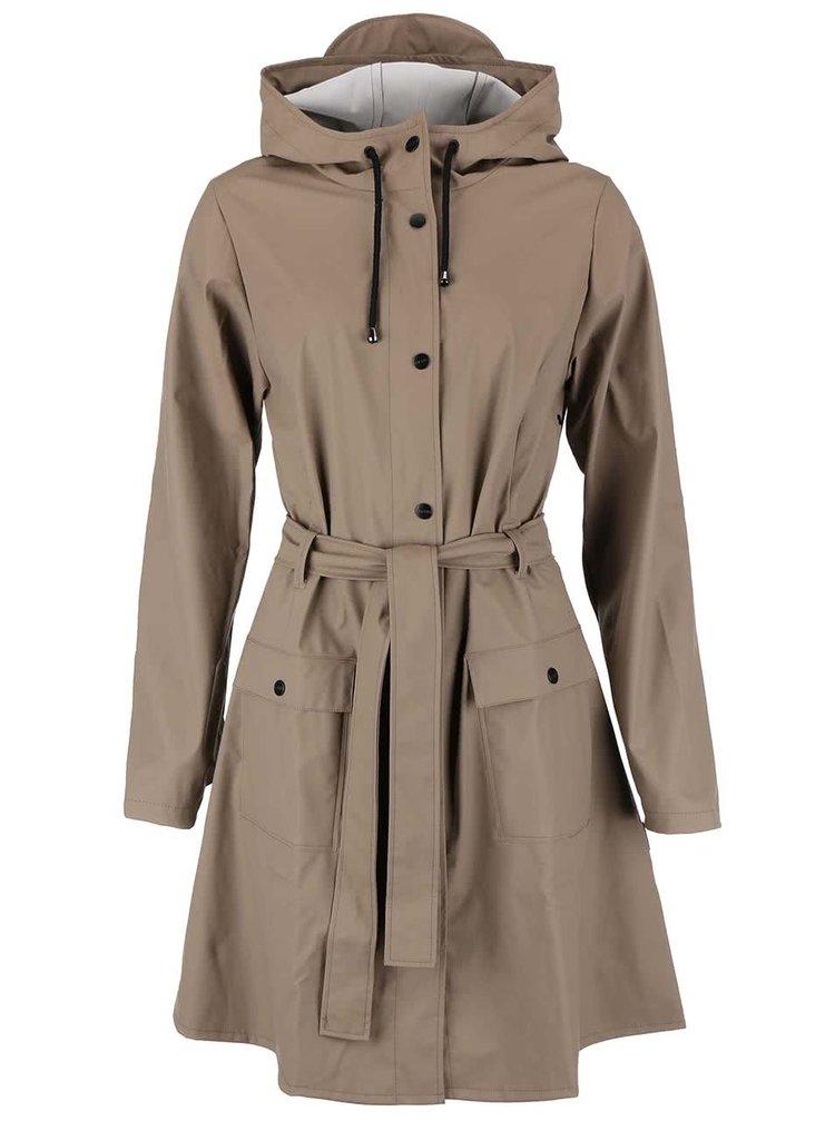 Hnedý dámsky nepremokavý kabát RAINS