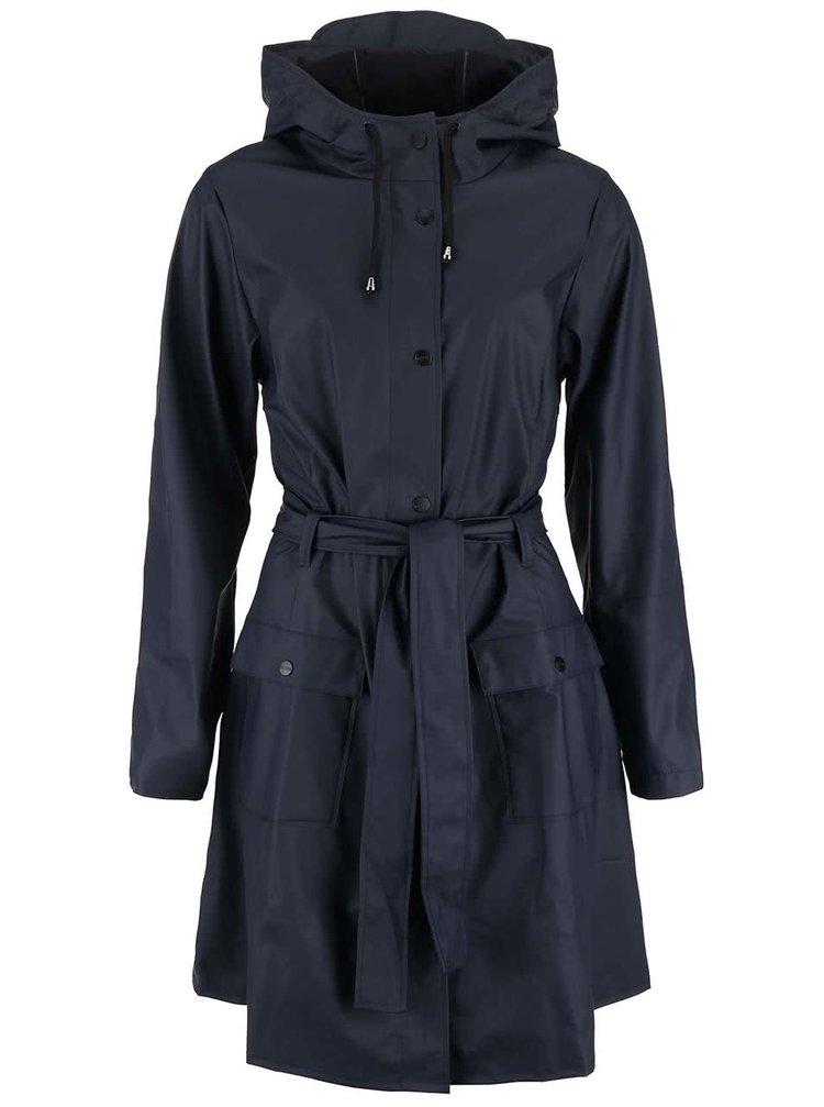 Tmavě modrý dámský nepromokavý kabát RAINS