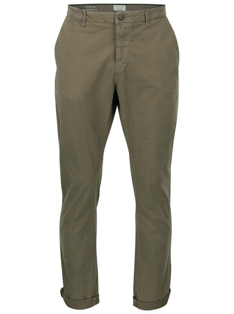 Pantaloni regular de bărbați ONLY & SONS Sharp kaki
