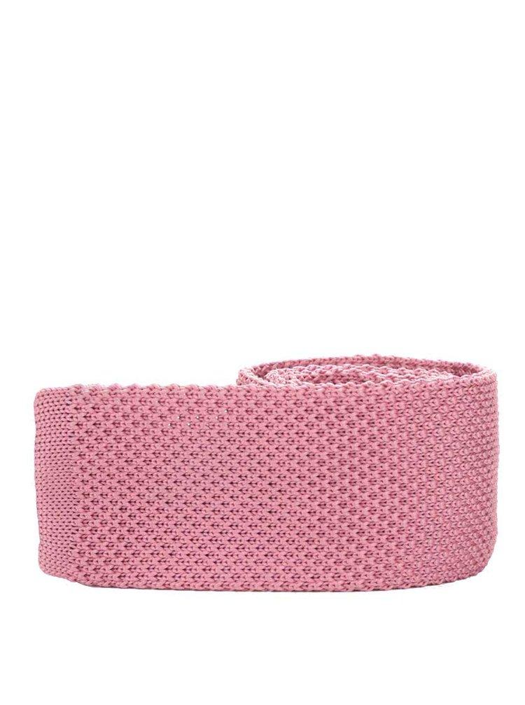 Ružová pletená kravata Burton Menswear London