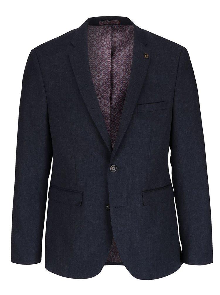 Tmavomodré slim fit sako Burton Menswear London
