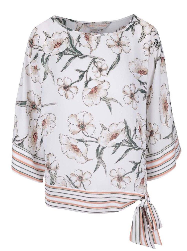 Bluză Dorothy Perkins crem cu imprimeu