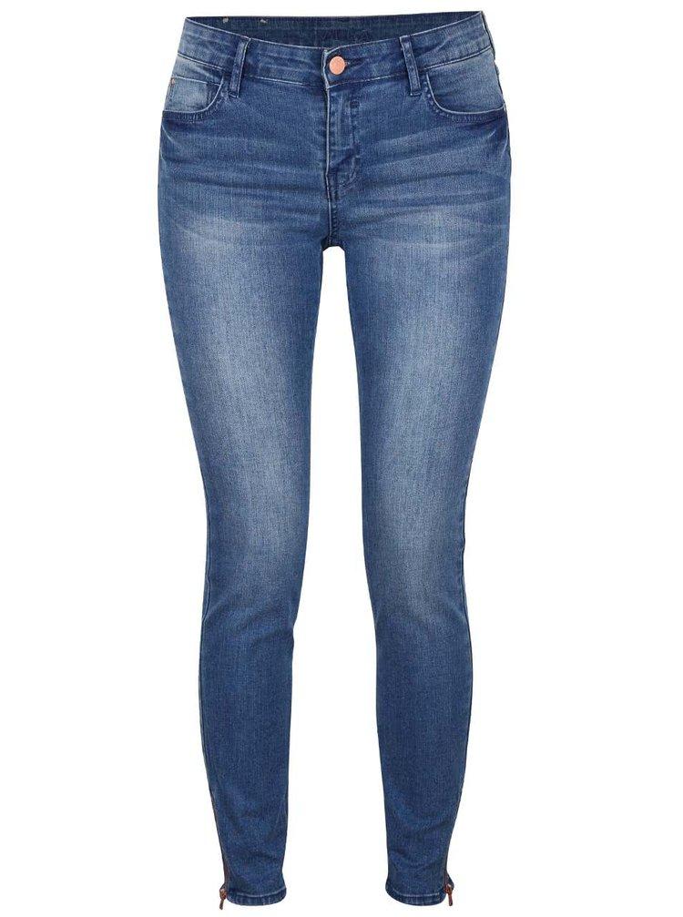Modré džíny se zipy VILA Crush