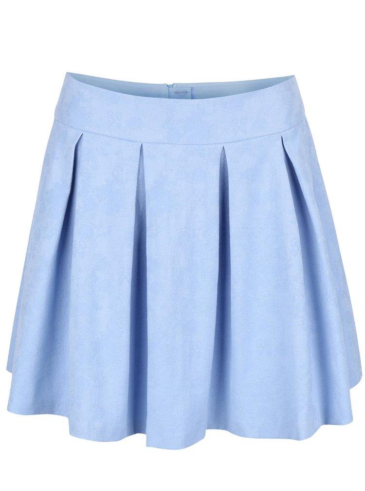 Svetlomodrá skladaná sukňa Miss Selfridge
