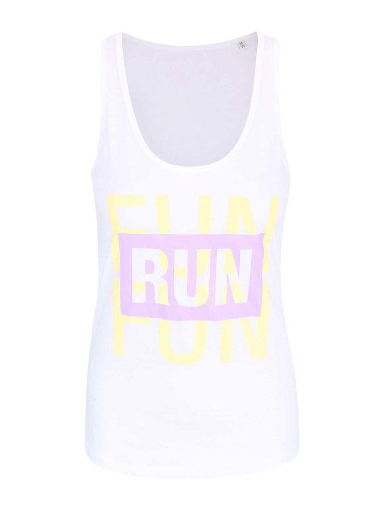 Biele dámske tielko ZOOT Originál Run Is Fun