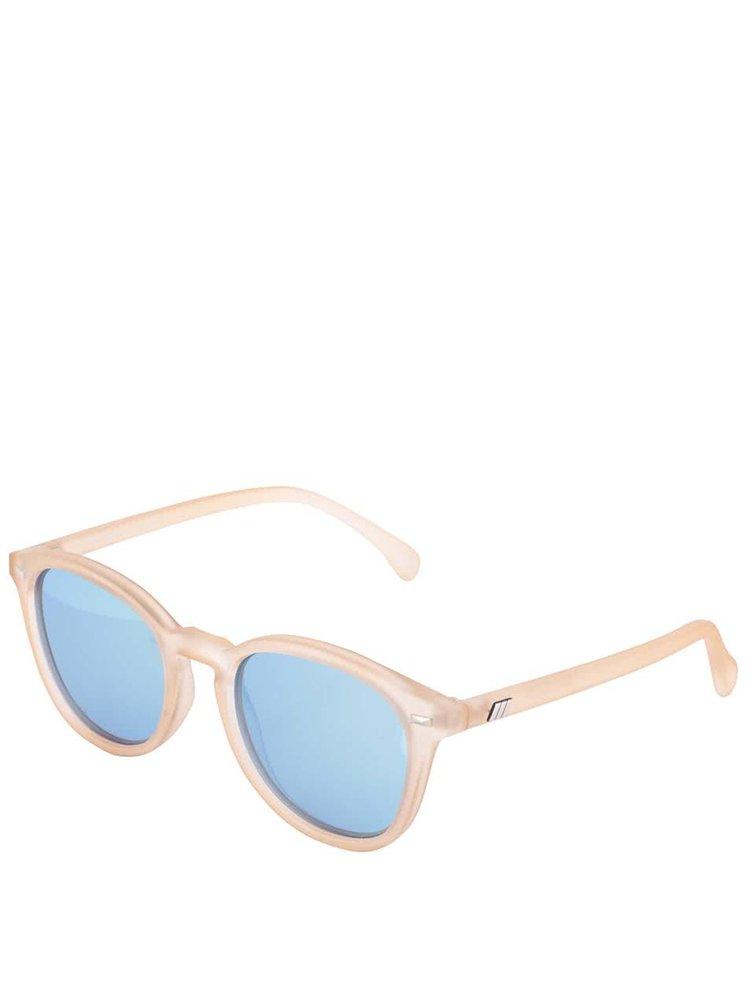Krémové dámske slnečné okuliare Le Specs Bandwagon