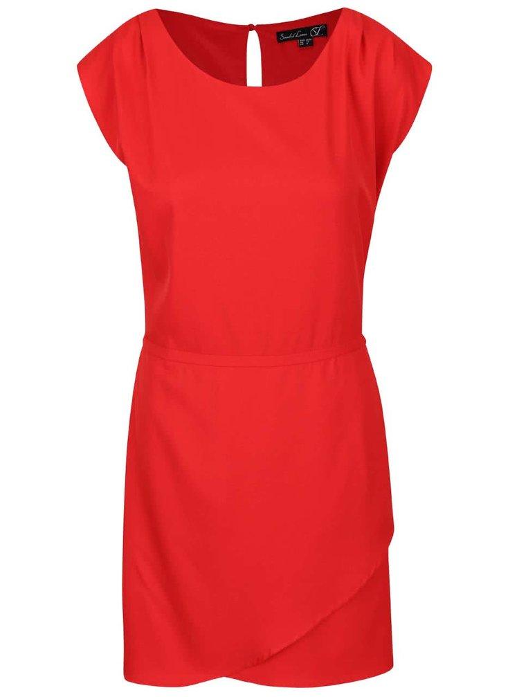 Červené šaty s překládanou sukní Smashed Lemon