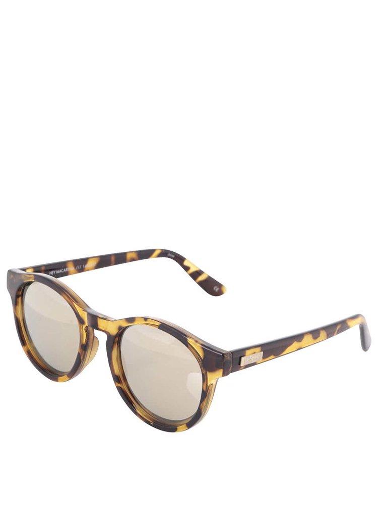Hnedé dámske korytnačie slnečné okuliare Le Specs Hey Macarena