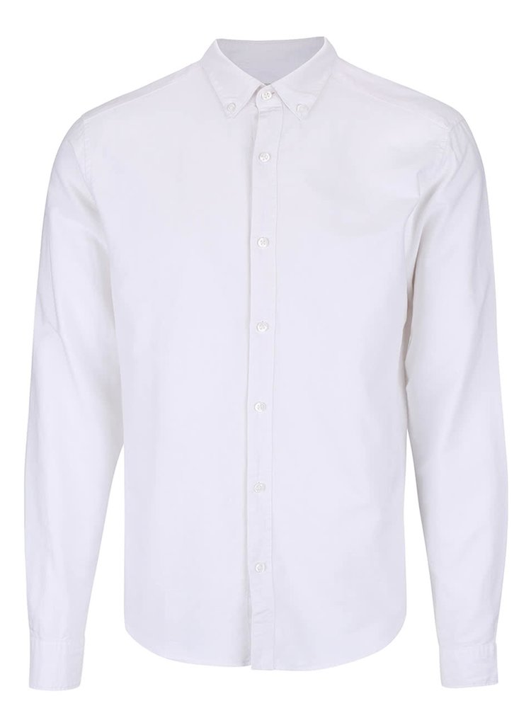 Biela slim fit košeľa ONLY & SONS Sebastian