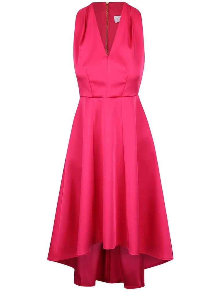 Rochie roz aprins Closet cu aspect satinat