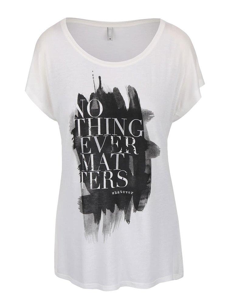 Krémové tričko s potiskem ONLY Favourite