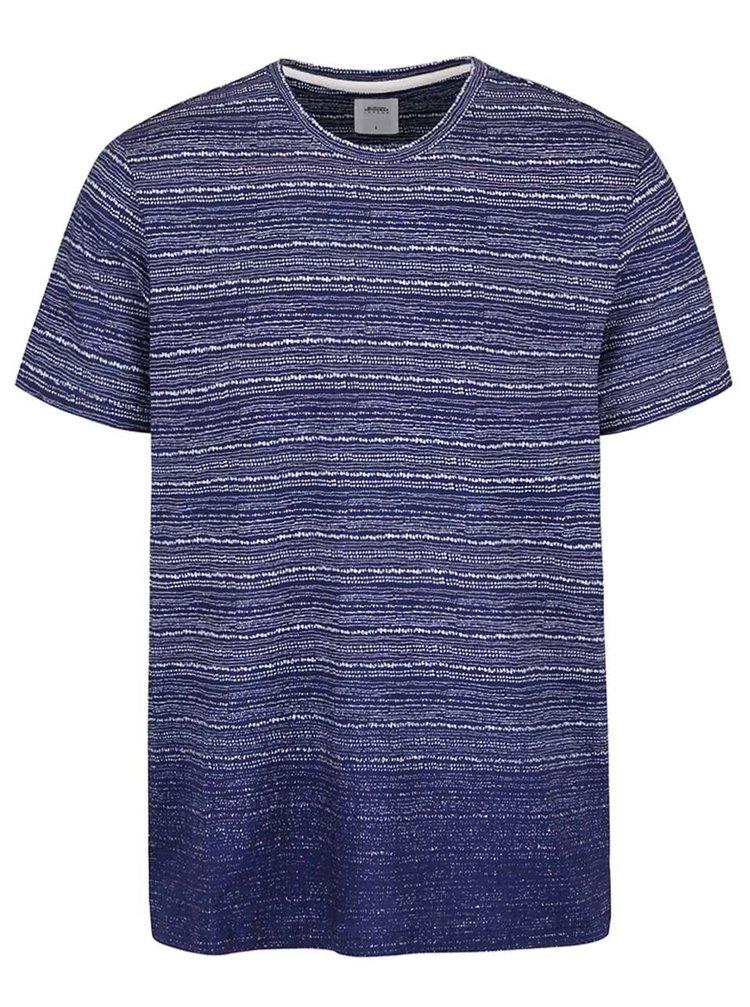 Modré pruhované triko Burton Menswear London