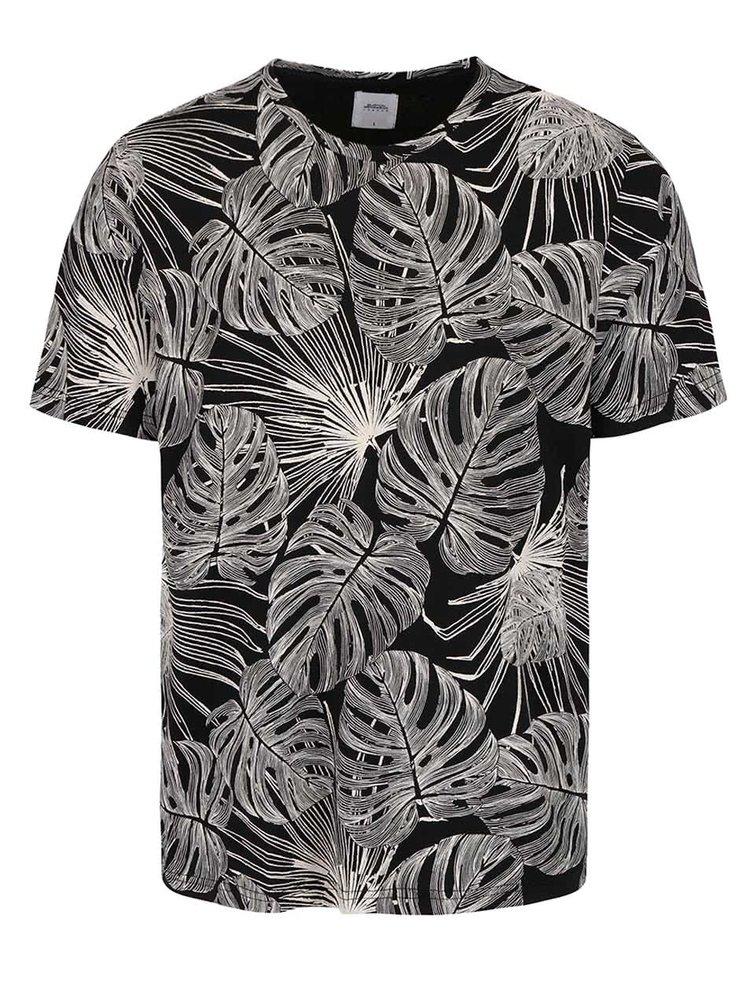 Tricou negru cu imprimeu Burton Menswear London