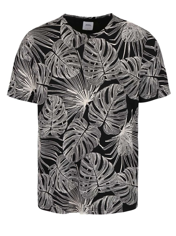 Černé triko se vzorem Burton Menswear London