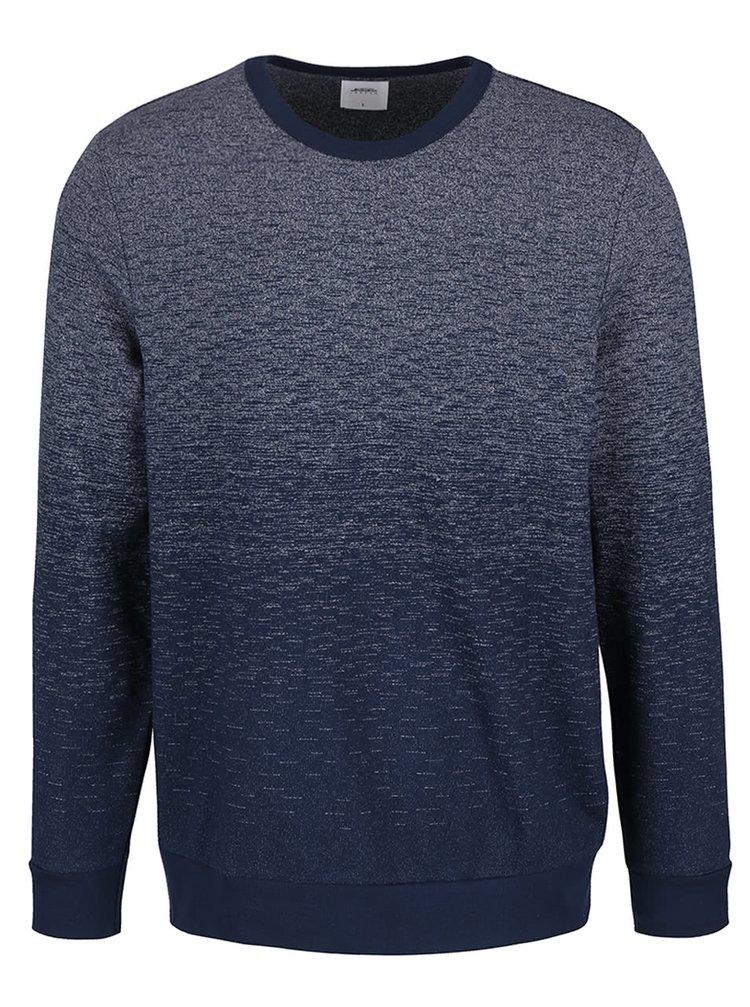 Modrá mikina s ombré efektem Burton Menswear London