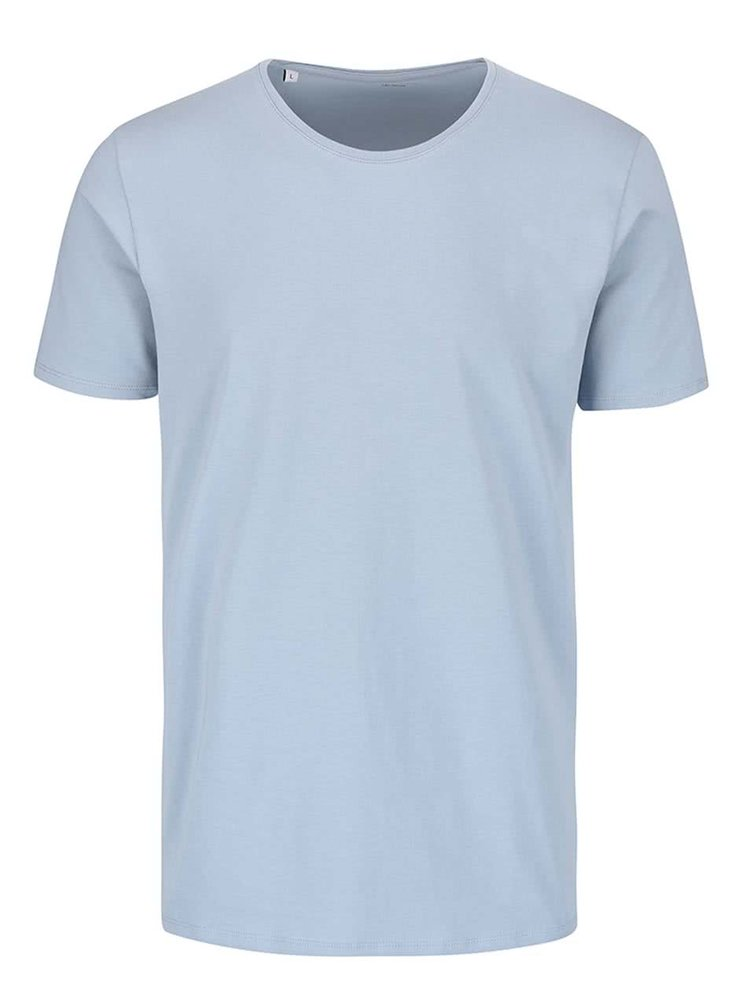 Tricou albastru azur Selected Homme Pima
