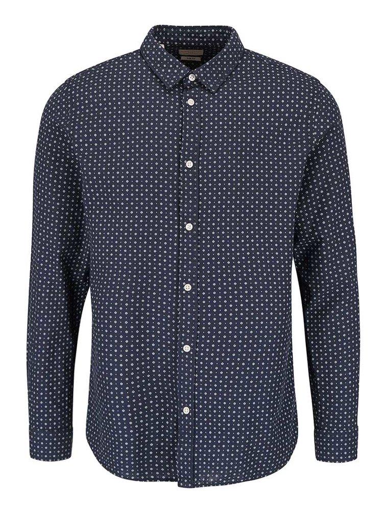 Tmavě modrá vzorovaná košile Selected Homme Honechuckle