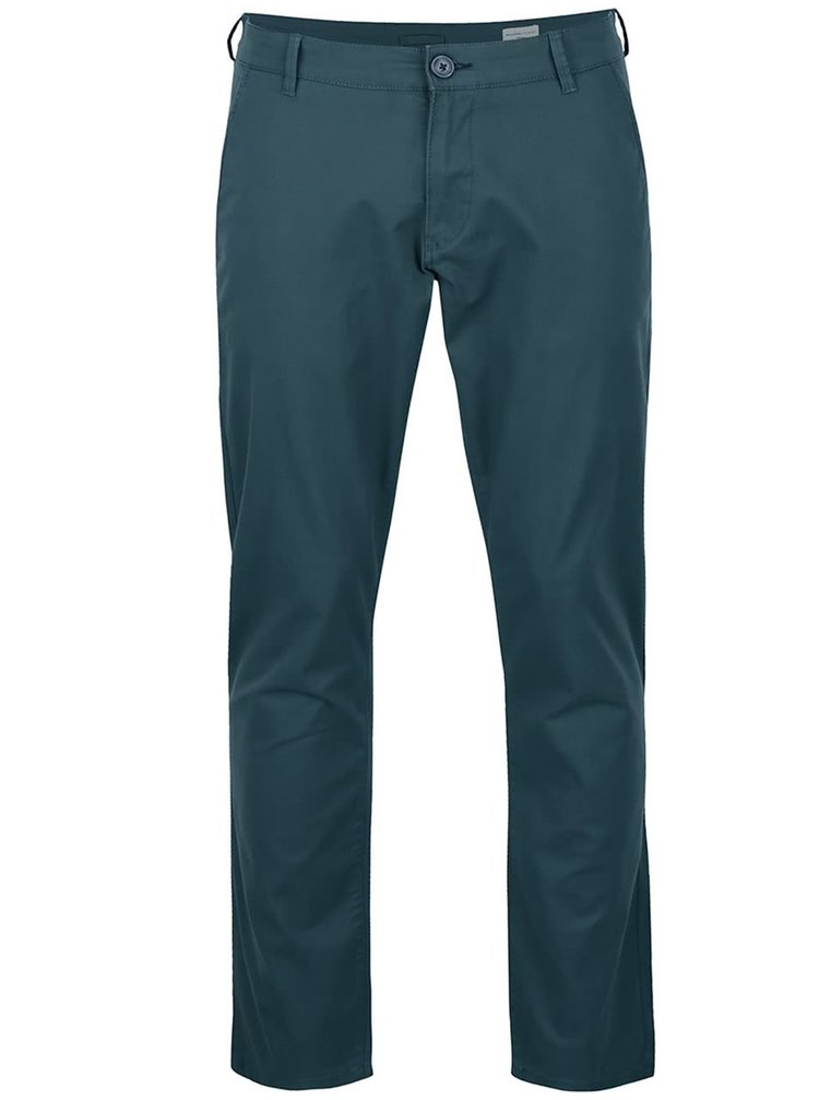 Pantaloni chino albastru petrol Selected Homme Three Paris
